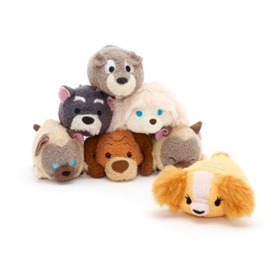 Lady and the Tramp Tsum Tsum Mini Soft Toy Bundle