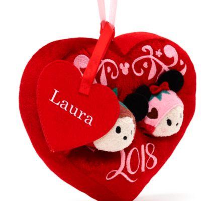 Set di mini peluche Tsum Tsum San Valentino Topolino e Minni