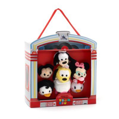 Ensemble de micro peluches Tsum Tsum Mickey et ses amis, diner américain
