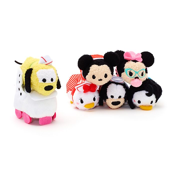 Mickey and Friends Micro Tsum Tsum Soft Toy Set, American Diner