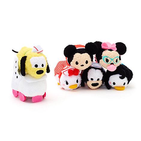 Set micro peluches Tsum Tsum Mickey y sus amigos, restaurante americano