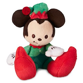 Disney Store Mickey Mouse Festive Tiny Big Feet Mini Soft Toy