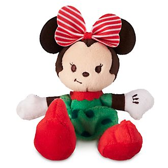 Disney Store Minnie Mouse Festive Tiny Big Feet Mini Soft Toy