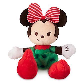 Disney Store Minnie Mouse Festive Tiny Big Feet Mini Soft Toy