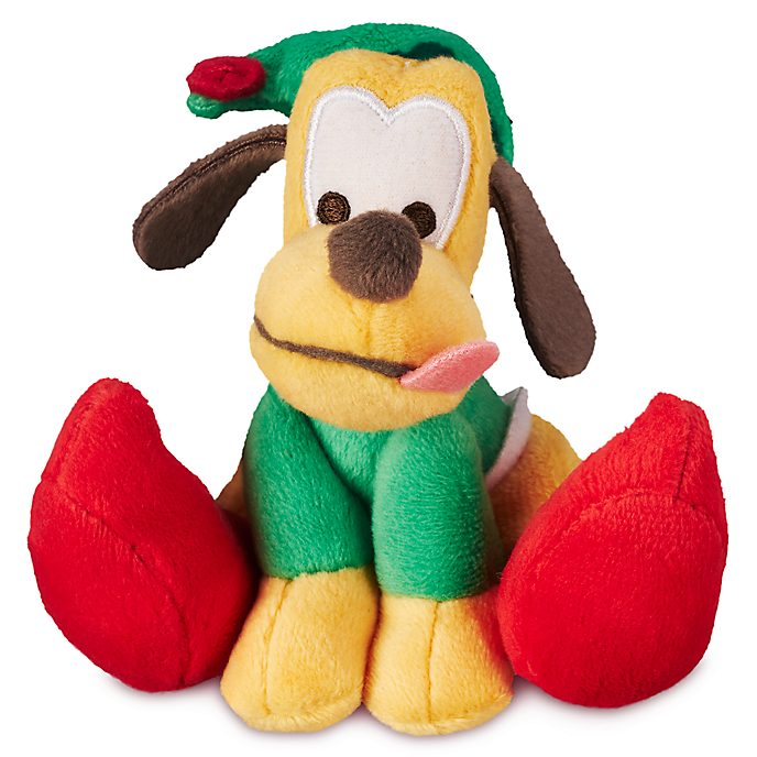 Disney Store Pluto Festive Tiny Big Feet Mini Soft Toy
