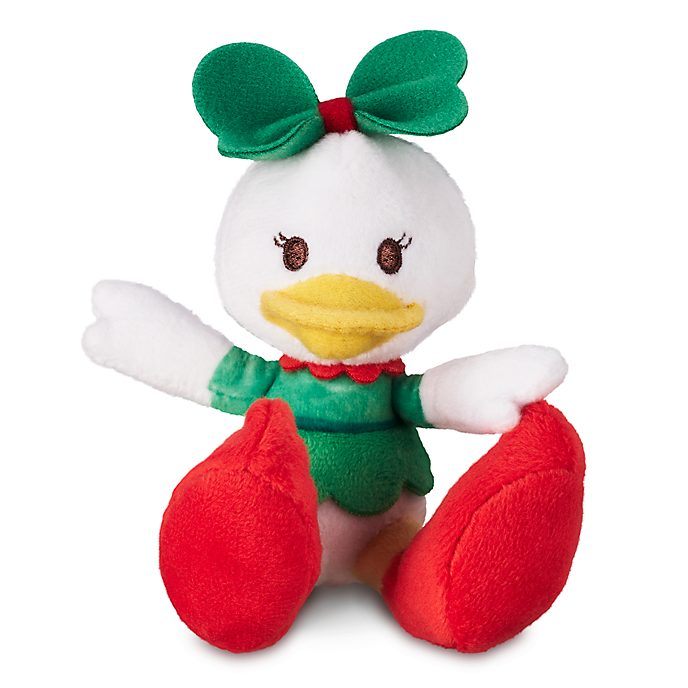Disney Store Daisy Duck Festive Tiny Big Feet Mini Soft Toy