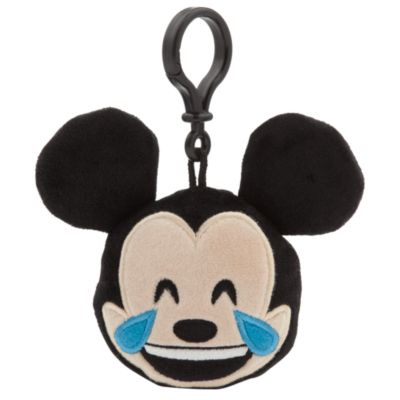 "Mickey Mouse Emoji Soft Toy 2.5"" Backpack Clip"