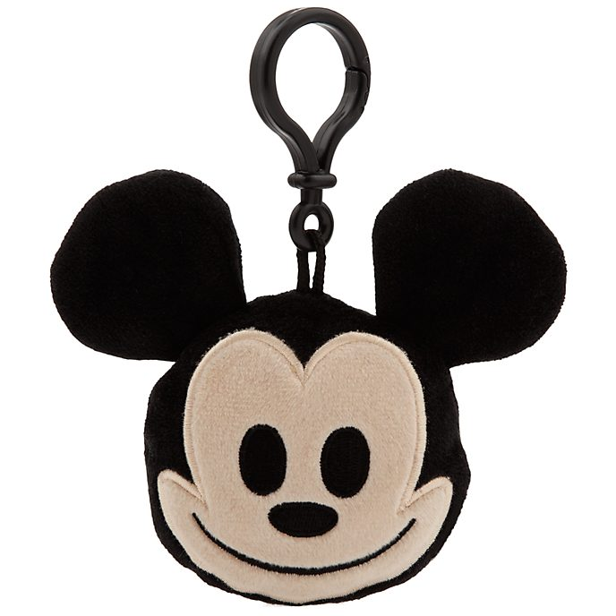 """Mickey Mouse Emoji Soft Toy 2.5"""" Backpack Clip"""