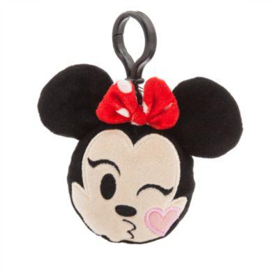 Minnie Mouse emoji plysdyr – rygsækclips på ca. 6 cm