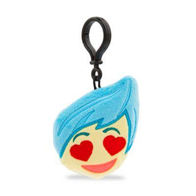 Llavero con peluche Alegría, colección Disney Emoji, Del revés