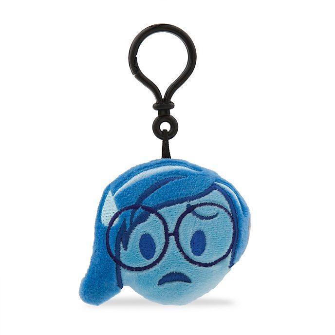 Llavero con peluche Tristeza, colección Disney Emoji, Del revés