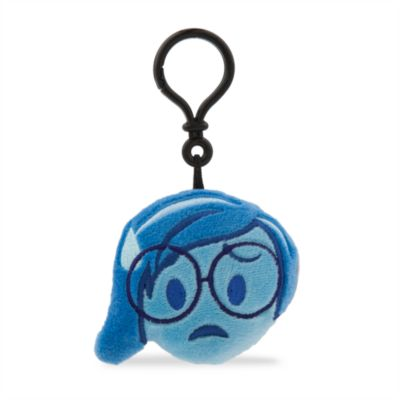 Porte-clés en peluche Tristesse Disney Emoji, Vice-Versa