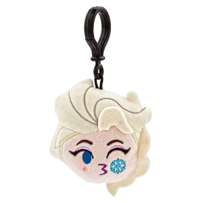 Colgante tipo peluche para mochila de Elsa en versión emoji, Frozen