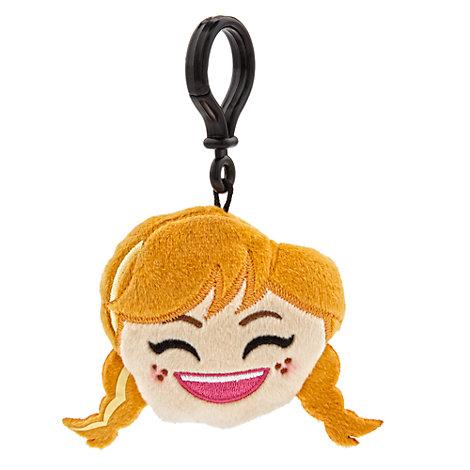 Peluche-emoji Anna pour sac à dos, La Reine des Neiges
