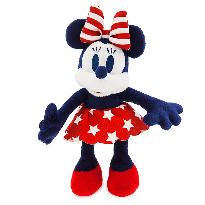Peluche miniature Minnie Mouse motif américain