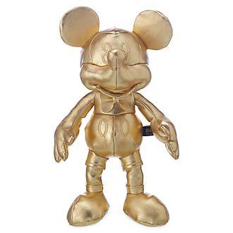 Mini peluche Mickey Mouse, colección dorada, Disney Store