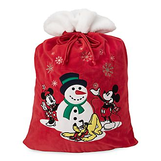 Disney Store Mickey and Minnie Holiday Cheer Christmas Sack
