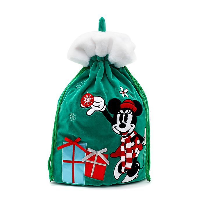 Disney Store Hotte de Noël Minnie, collection Holiday Cheer