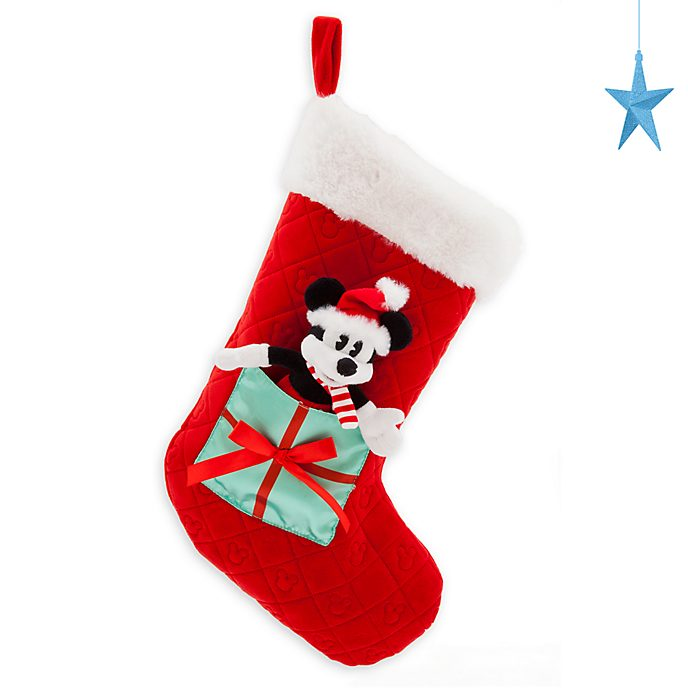 Disney Store Chaussette de Noël Mickey, collection Holiday Cheer