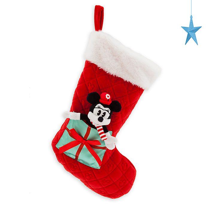 Disney Store Chaussette de Noël Minnie, collection Holiday Cheer