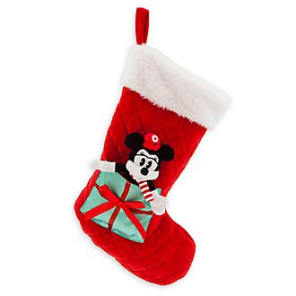 Disney Store Chaussette de Noël Minnie, collection Holiday Cheer