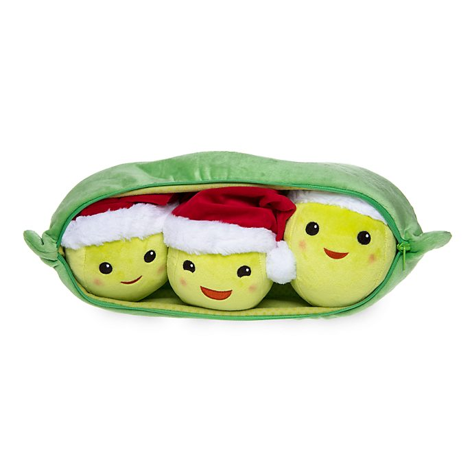 Disney Store Peas-in-a-Pod Holiday Cheer Medium Soft Toy