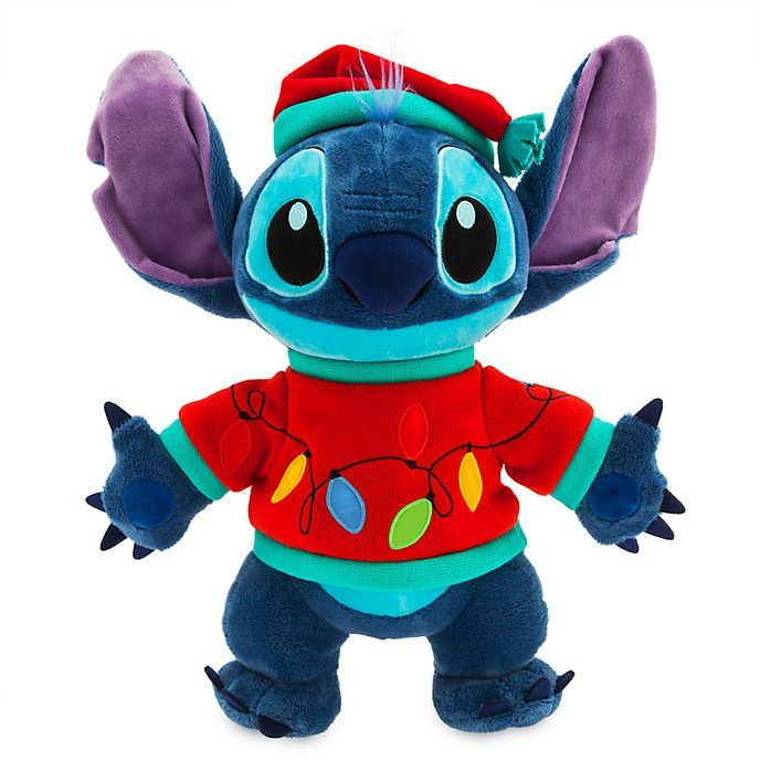 Disney Store Peluche moyenne Stitch lumineuse, Holiday Cheer