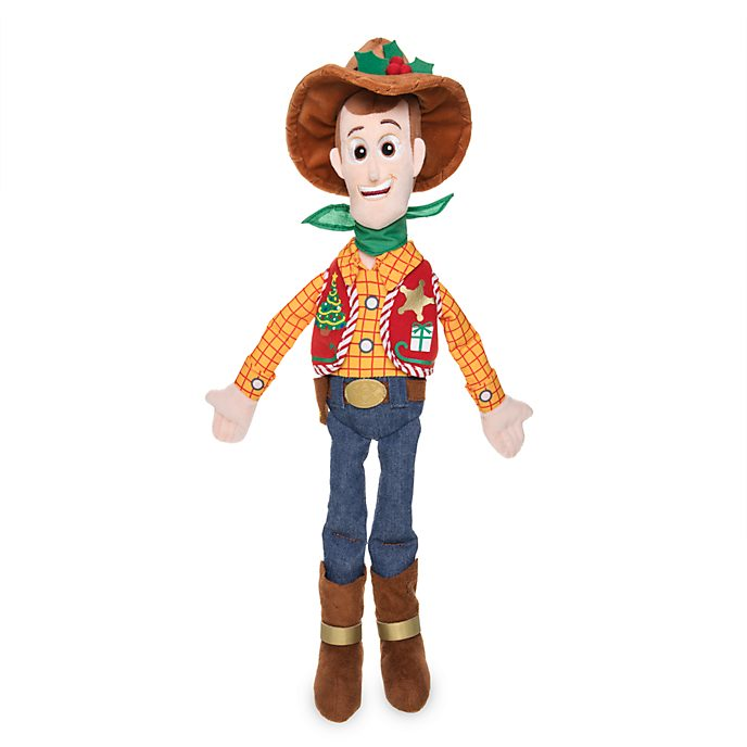 Disney Store Peluche moyenne Woody, collection Holiday Cheer