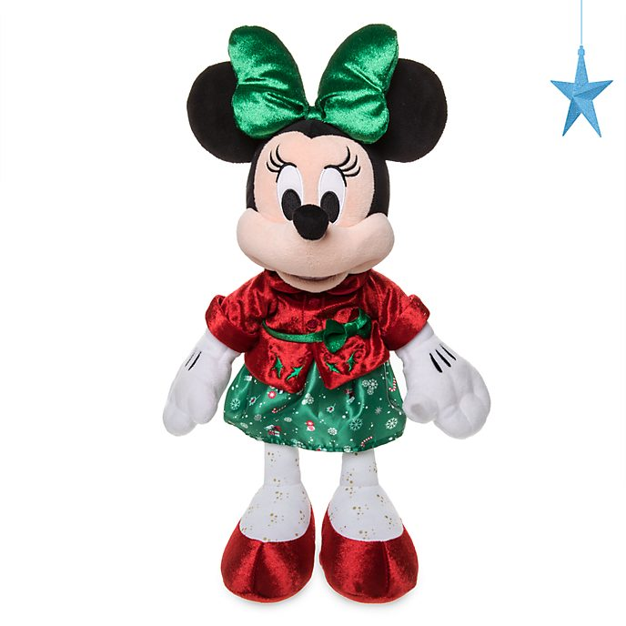 Disney Store Minnie Mouse Holiday Cheer Medium Soft Toy