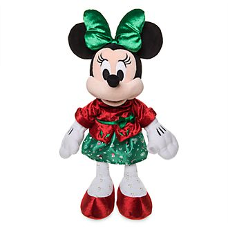 Disney Store Peluche moyenne Minnie, Holiday Cheer