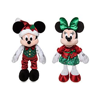 Disney Store - Holiday Cheer - Micky und Minnie - Kuschelpuppen-Bundle