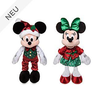 Disney Store - Holiday Cheer - Micky und Minnie - Kuschelpuppen-Bundle