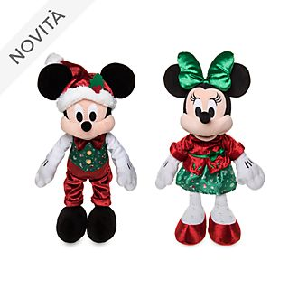 Coppia di peluche Holiday Cheer Topolino e Minni Disney Store