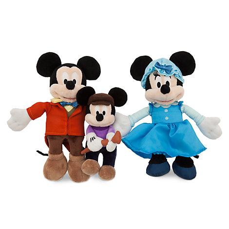 Conjunto peluches La Navidad de Mickey