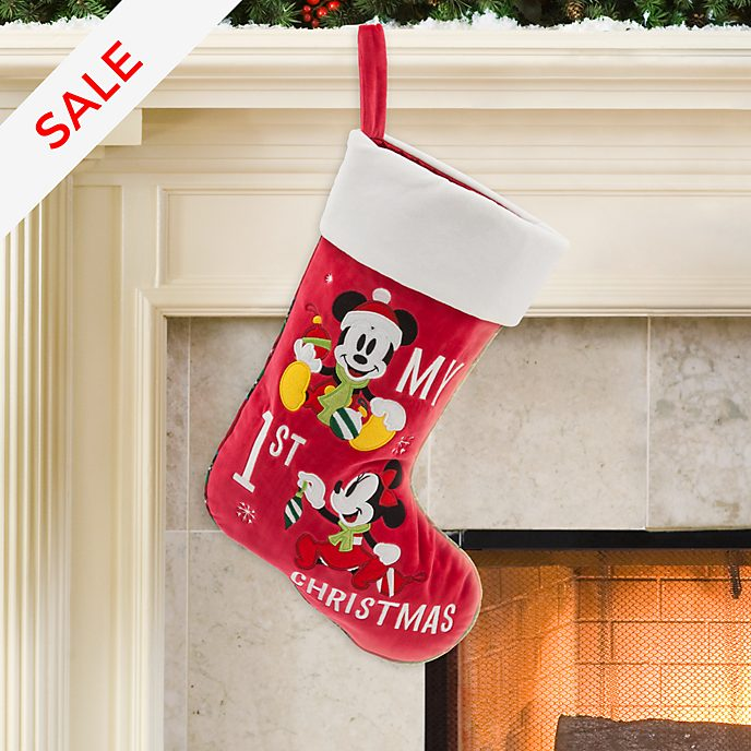 Mickey and Minnie Mouse 'My 1st Christmas' Stocking