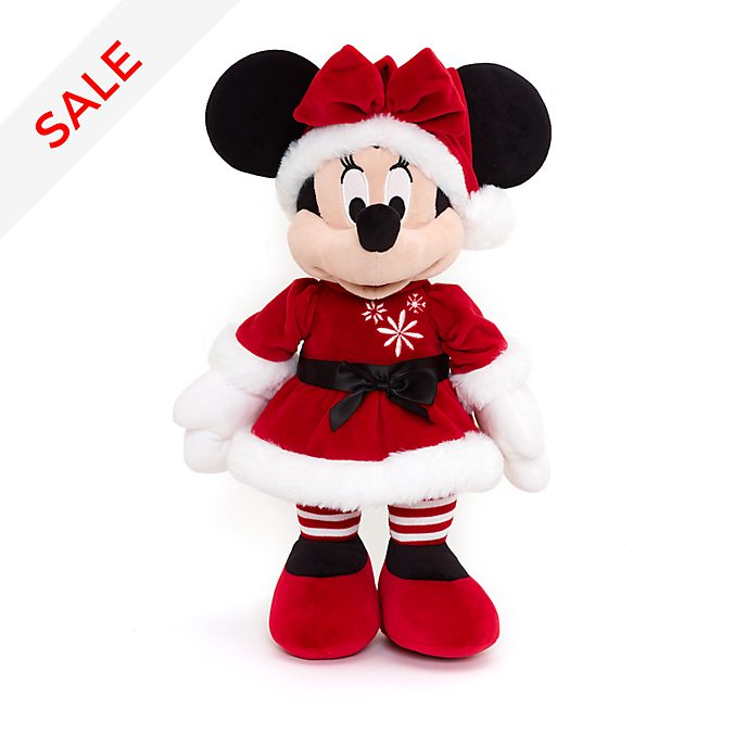 Christmas Minnie Ears 2019.Minnie Mouse Medium Christmas Soft Toy