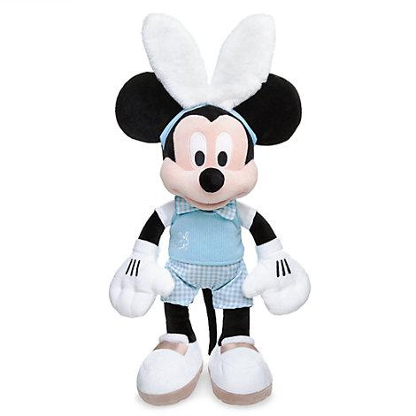 Mellemstor Mickey Mouse-plysdukke, inspireret af påsken