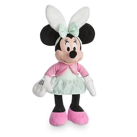 Mellemstor Minnie Mouse-plysdukke, inspireret af påsken