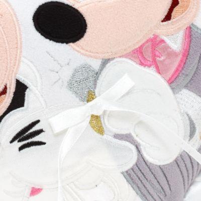 Coussin de mariage cœur Mickey et Minnie Mouse