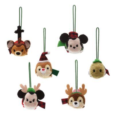 Set de 6 adornos colgantes tipo micropeluches Tsum Tsum del Mundo de Disney
