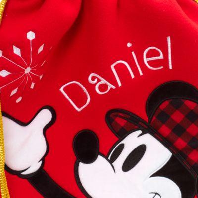 Saco Navidad Mickey Mouse mediano