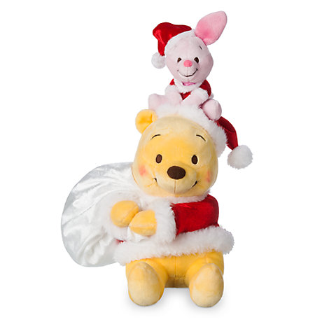 Winnie the Pooh and Piglet Festive Small Soft Toy