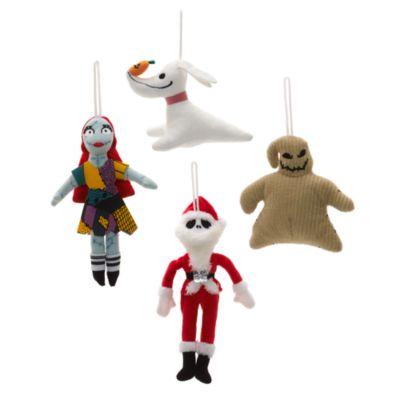 Julepynt fra Nightmare before Christmas, sæt med 4 stk.