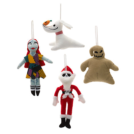 Set per albero di Natale Nightmare Before Christmas, 4 decorazioni