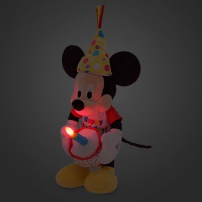 Peluche musicale Mickey Mouse de taille moyenne pour anniversaire