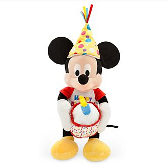 Peluche medio musicale Happy Birthday Topolino