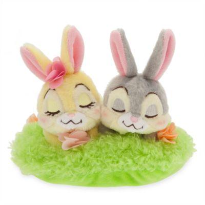 Ensemble de petites peluches Pan-Pan et Miss Bunny, Pâques
