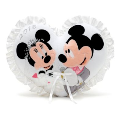 Cojín de boda Mickey y Minnie Mouse, 2018