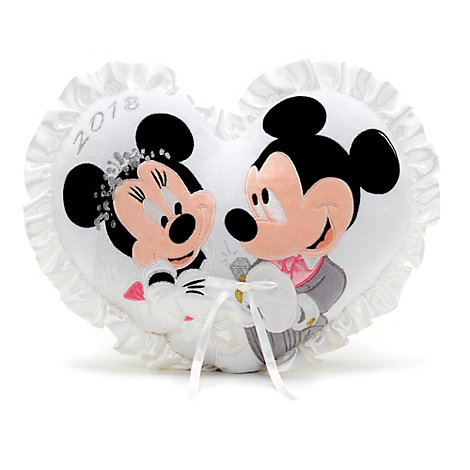 Mickey and Minnie Mouse 2018 Wedding Cushion