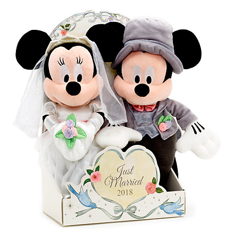 Mickey and Minnie Mouse 2018 Wedding Soft Toy Set